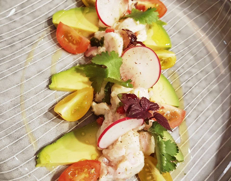 Ceviche an Avocado